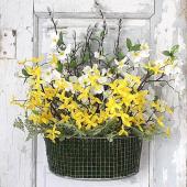 Cheery basket door decoration