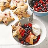 Cherry-Berry Shortcake Stars